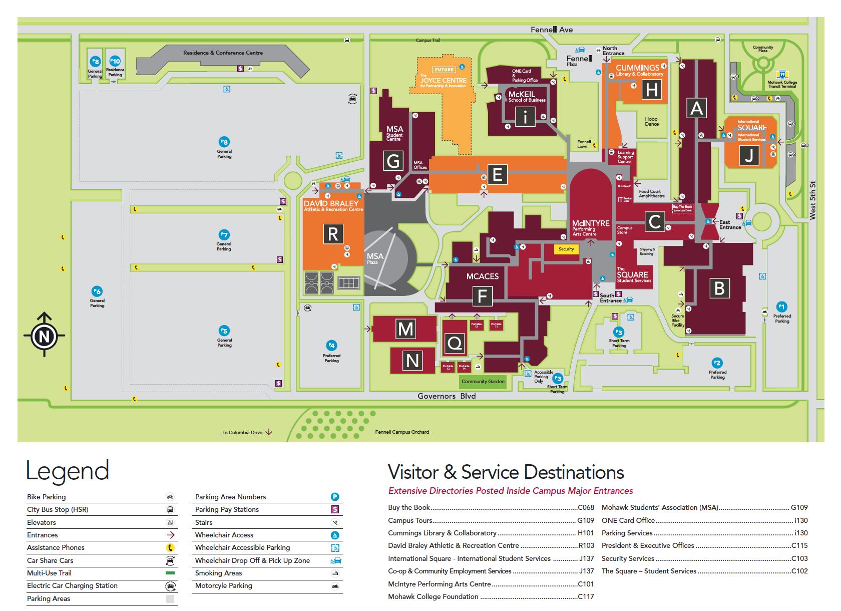 Centre College Campus Map