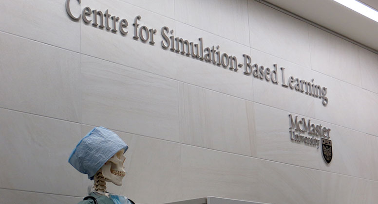 Front desk at the Centre for Simulation-Based Learning (CSBL-1G)