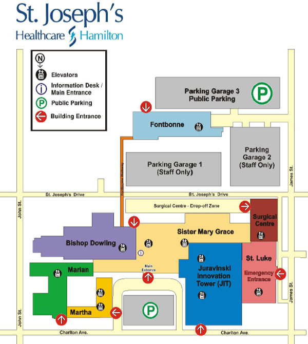 Fontbonne Campus Map.Mcmaster University Csbl St Joseph S Hospital Map And Directions